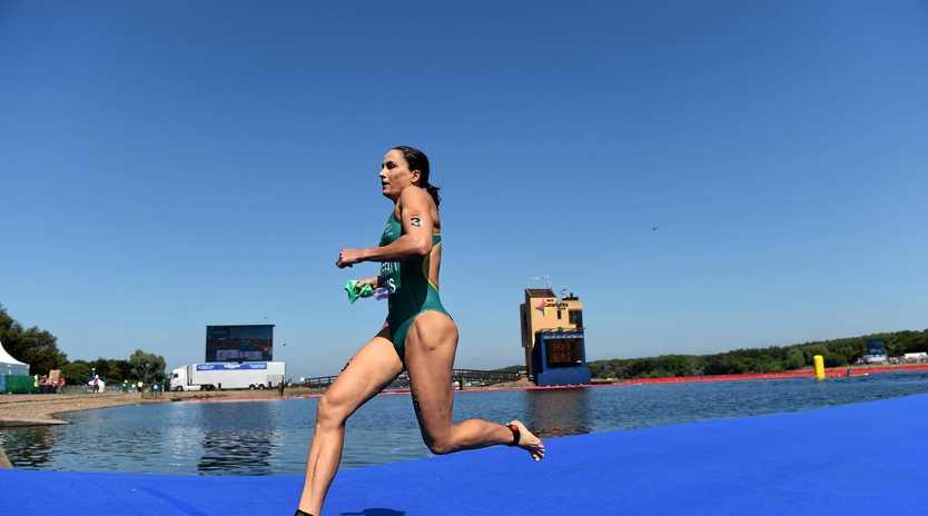 SWIM, RIDE, RUN: Australian triathlete Emma Moffatt will be competing in her third Olympic triathlon tonight.