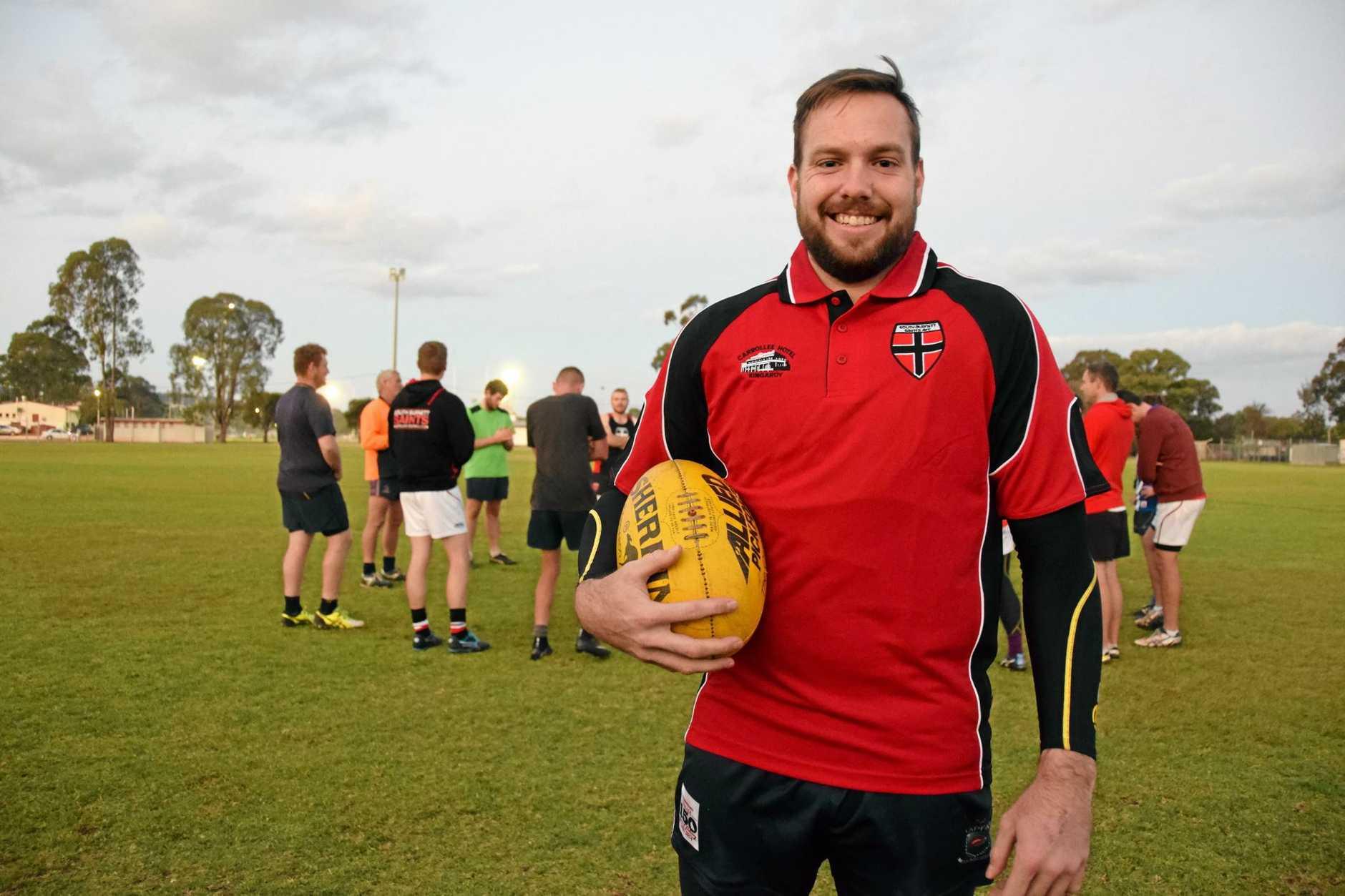 GOAL WEAPON: AFL Darling Downs second highest scorer Carl Stevenson.