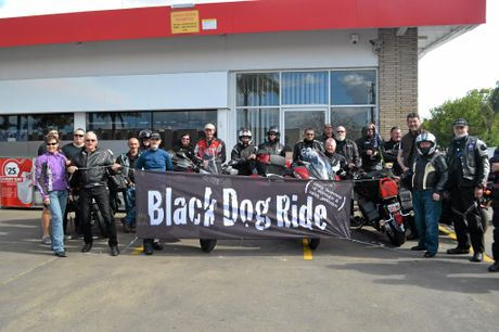 ALL IN BLACK: The riders taking part in this year's Black Dog Ride.