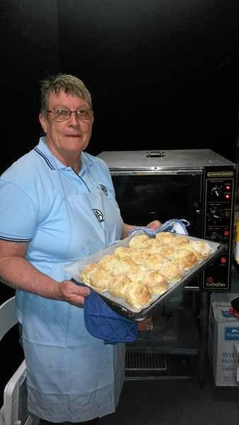EKKA SCONES: Lois Thurecht from the Kingaroy QCWA baked more than 700 scones for the Ekka.