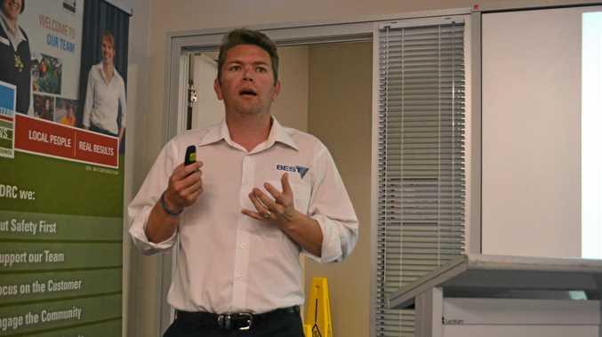 TAKE A SENIOR: Duncan McKenzie from BEST Employment sells seniors' skills.