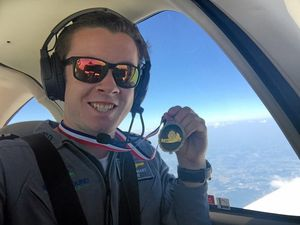 Teen about to land his round-the-world record attempt