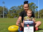 Gladstone female footy player tougher than men
