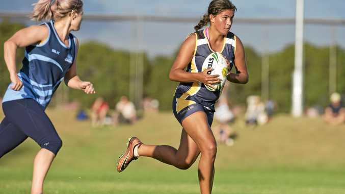 ON THE MOVE: Talented Fairholme player Kiara Taylor in action.