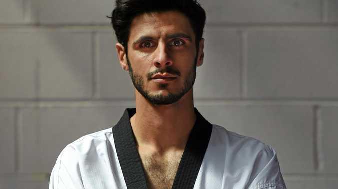 UNLUCKY EXIT: Taekwondo competitor Safwan Khalil, of Australia.
