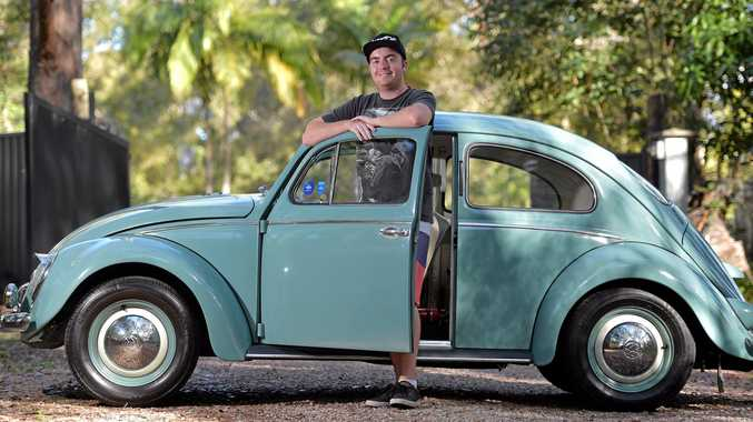 LETTING GO: Dale Berends is selling an immaculately restored 1959 VW Beetle for $25,000 to fund another Beetle project car.