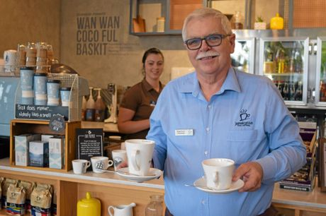 Stewart Snell was so focussed he didn't notice the earthquake, or spill a drop, as he delivered coffees at Jamaica Blue.