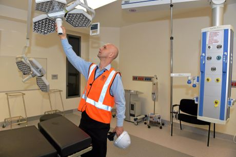 ON ITS WAY: Dr. Piotr Swiekowski, Executive Director of Medical Services checks out the state-of-the-art setup.