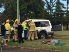 Woman cut from wreckage of 4WD and truck crash