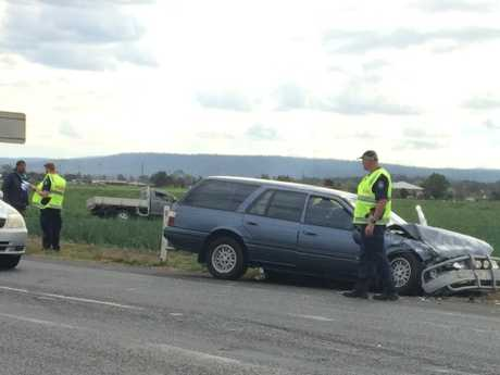 A two-vehicle crash near Gatton.