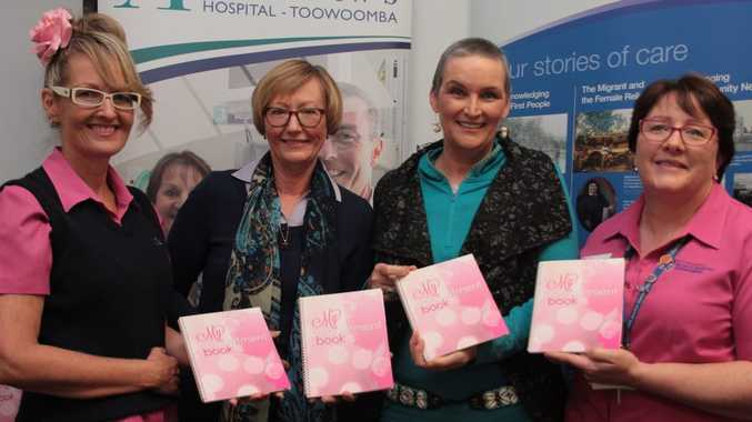 Thrilled with the launch of a new book to make life easier for breast cancer patients are (from left) Gaye Foot, Suellen Kirkegaard, Rosemary Grundy and Bronwyn King.