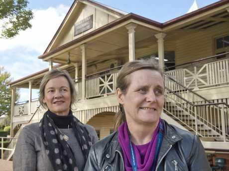 Principal of Fairholme College Linda Evans and Darling Downs public health unit director Penny Hutchinson.