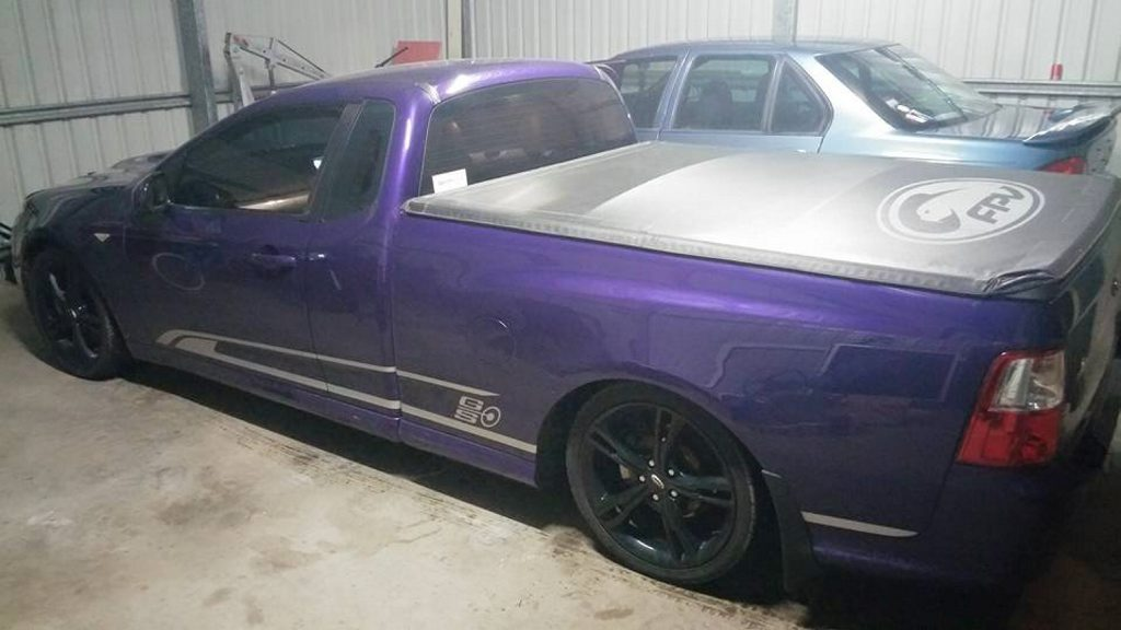 Ethan Egan won't be driving his purple Ford ute.