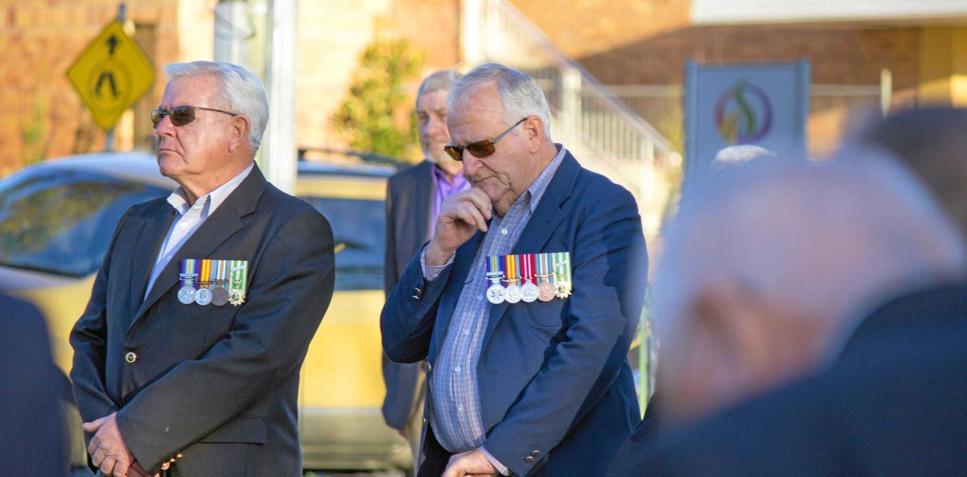 EMOTIONAL: Stanthorpe commemorated the Battle of Long Tan on Thursday, which marked 50 years since the battle.