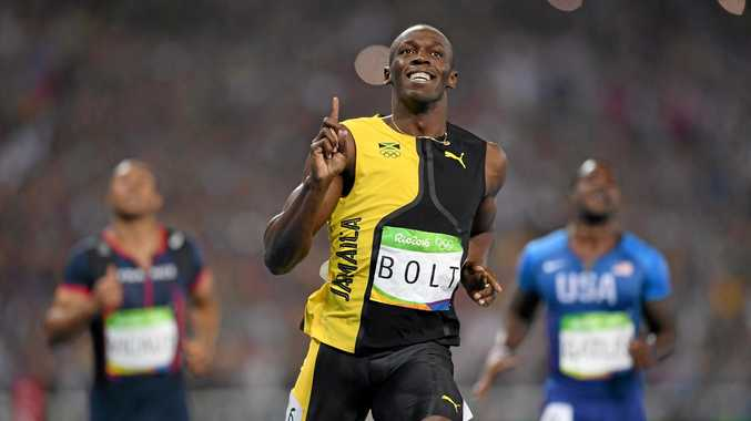 GOLD: Jamaican superstar and fastest man on earth, Usain Bolt wins the Men's 100m final at his third consecutive Olympics.