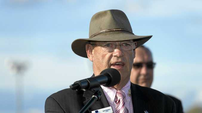 Toowoomba Turf Club chairman Bob Frappell speaking during this year's Weetwood Handicap presentation at Clifford Park.