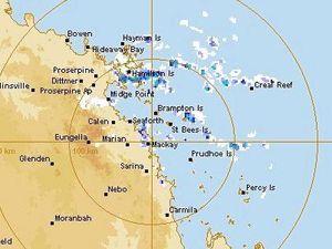 Rain isolated to Mackay coastal fringe despite grey sky