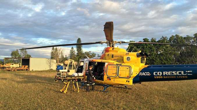 RACQ CQ Rescue landed on a property at Eungella late yesterday afternoon to transfer a toddler injured in a quad bike accident.