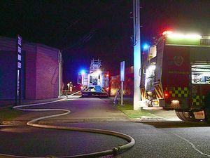 Blaze damages used car workshop