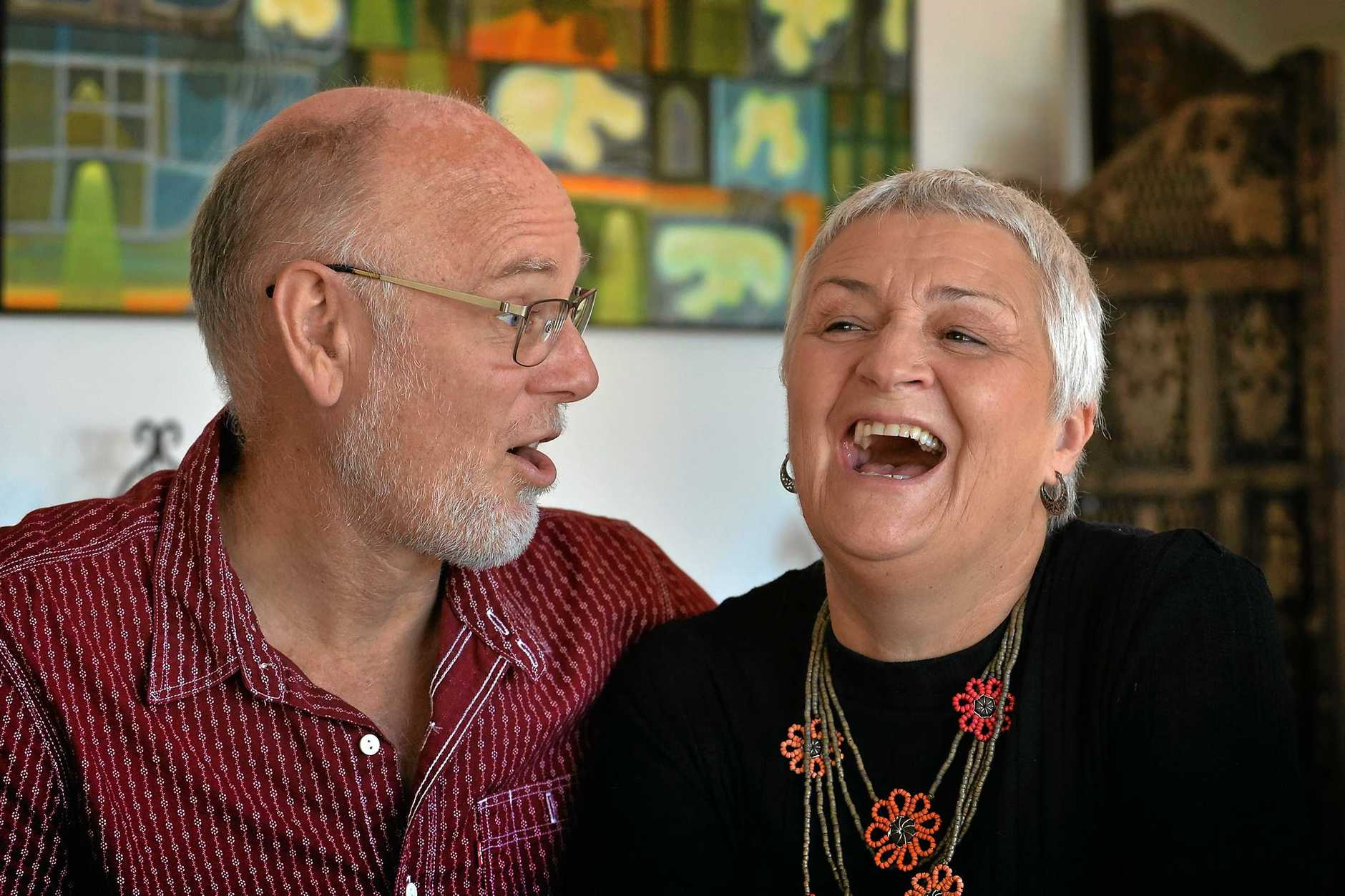 TOUGH START: Toni Powell did not love her husband, Philip, when they first married but they have learnt the secrets of a happy relationship during the last 39 years to make their marriage work.
