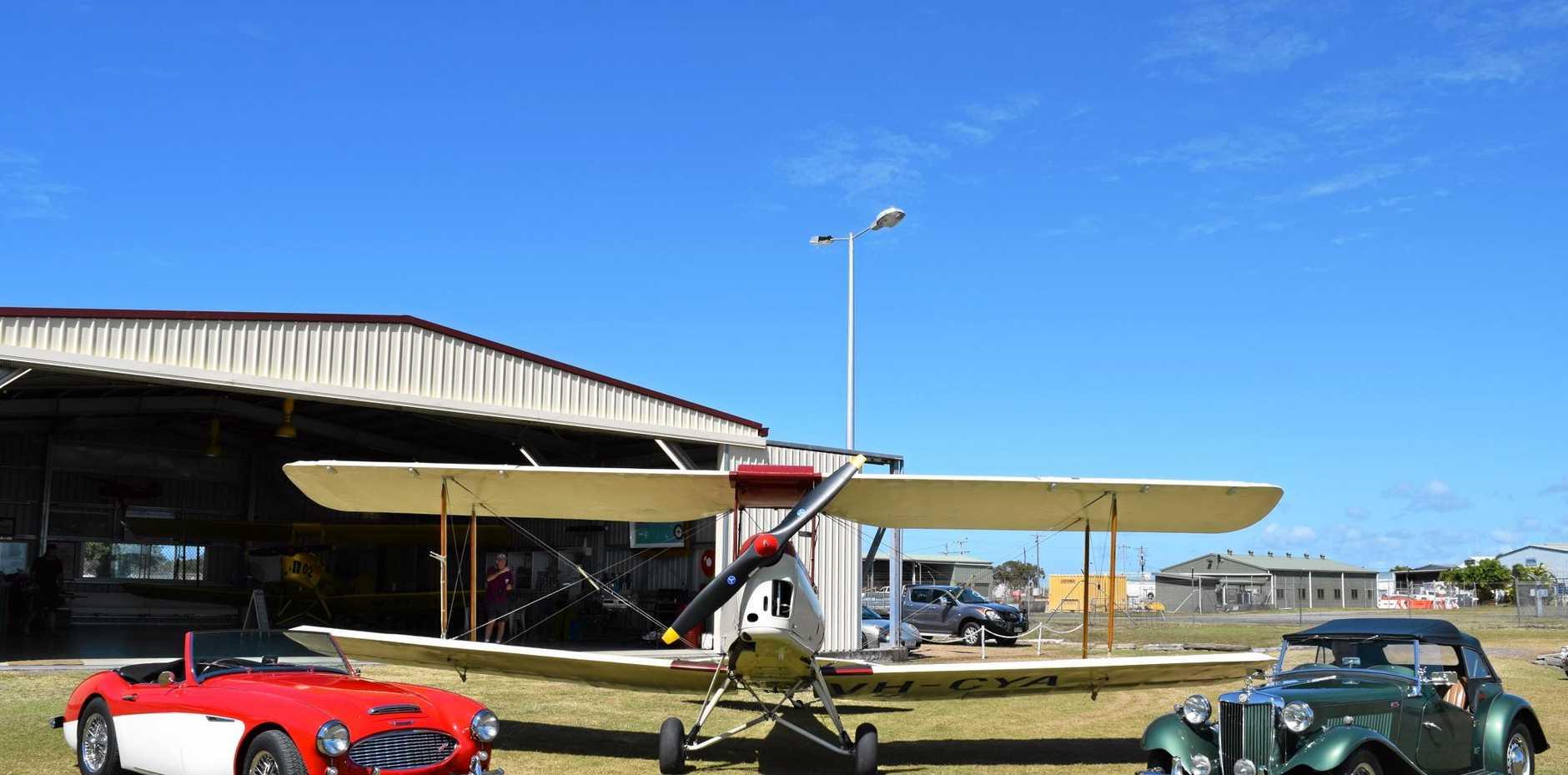 Classis MGs on display at the Mackay Aero Club.
