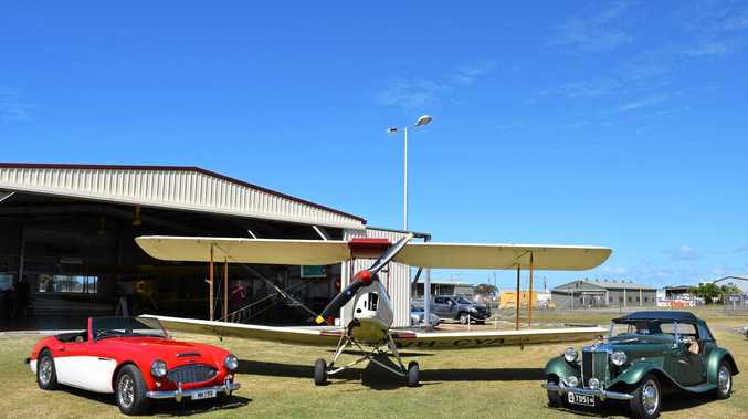 Classis MGs on display at the Mackay Aero Club.
