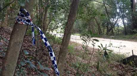 Remnants of the crime scene at Pollards Rd, Dulguigan.