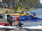LINED UP: Boats prepare to race at Sandy Hook Bundaberg.Photo: Paul Donaldson / NewsMail