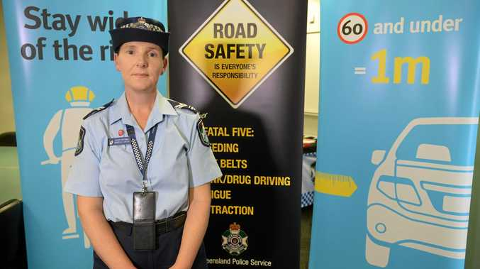 Senior constable Danielle Loftus reminding drivers to be cautious on our roads.
