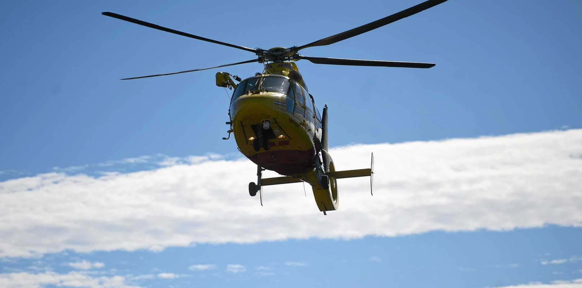 A 58-year-old man had to be winched out of the Imbil forestry yesterday afternoon.