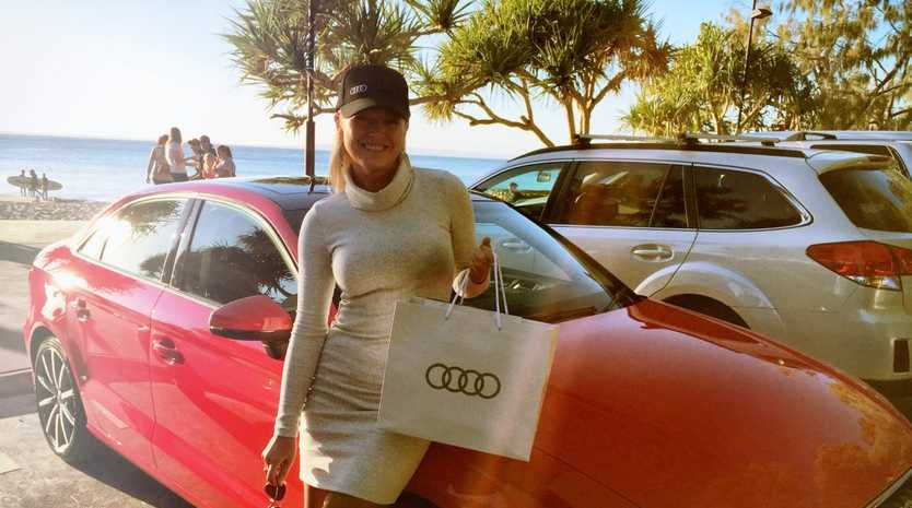 AUDI GAL: Jo Beth Taylor has an affection for Audis, and has the R8 supercar in her sights.