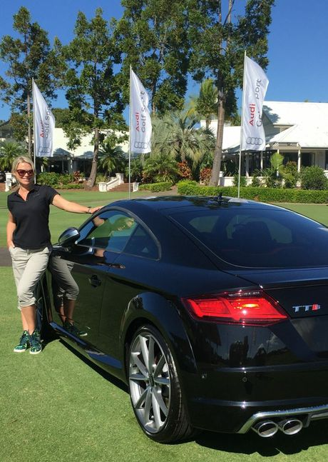 Jo Beth Taylor as ambassador for Audi Centre Sunshine Coast. Photo: Contributed.