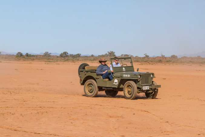 Iain Curry in a 1942 Willys MB, FLinders Ranges, SOuth Australia. Photo: Thomas Wielecki