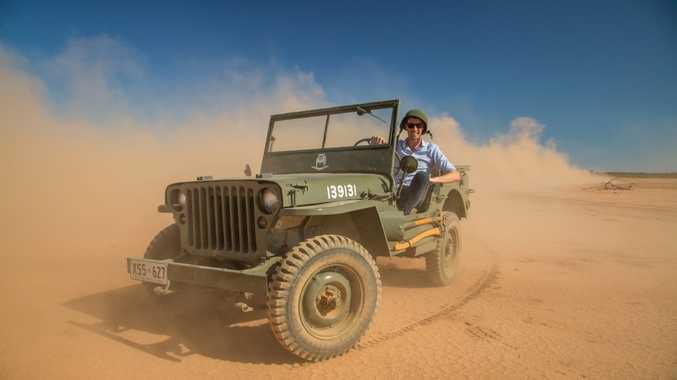 WAR HERO: 1942 Willys MB in the South Australian desert: the origin of the Jeep species as it celebrates its 75th anniversary.