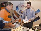 Adrian Llewellyn and Paul Rissman from Nexans Colex. Electrical Trade Show Gladstone. Friday 19 August 2016.