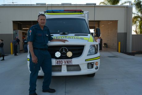 Geoff Stower at his Pittsworth retirement event after almost 37 years at the QAS as a paramedic.