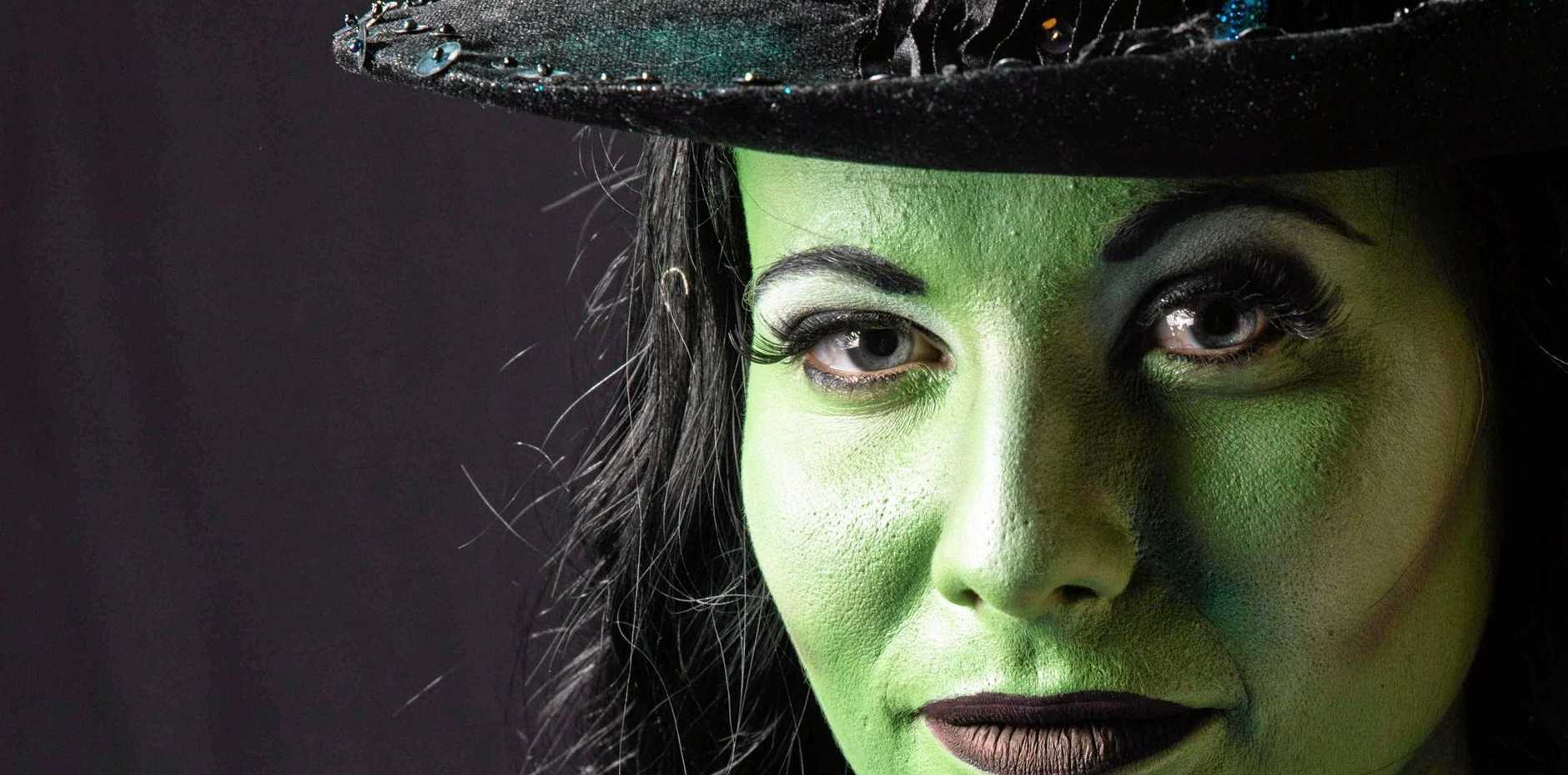 WITCH ROLE: Wicked's Heidi Enchelmaier prepares for the production.
