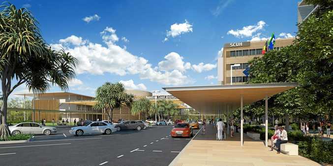Sunshine Coast University Hospital west view.