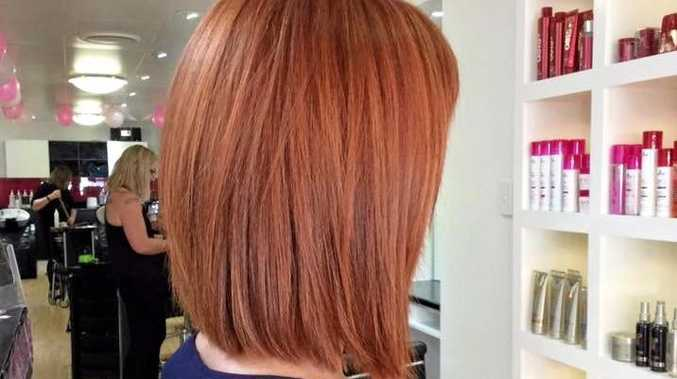 TRENDING STYLE: Smarty's Hairstylists client shows off her new soft copper lob.