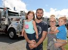 BIG RIG FANS: Naiyo, Kane, Annita and Link McKinnon took in the sights and the sounds of the Mackay Konvoy for Kids, charity event held at the Mackay Show grounds.