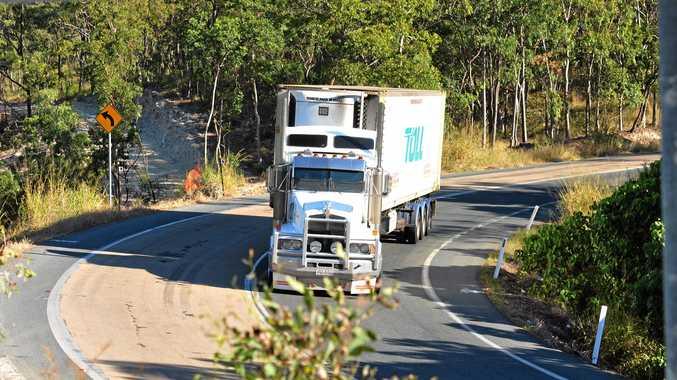 Truck on Peak downs highway. Eton Range.  Photo Peter Holt / Daily Mercury