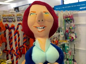 RSPCA takes down Julia Gillard dog chew toy