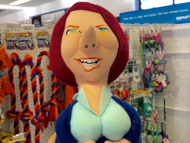 The Julia Gillard dog chew toy.