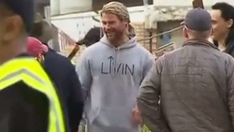Chris Hemsworth's choice of jumper has seen sales for an Australian charity soar. Picture: Sunrise