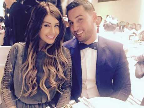 Salim Mehajer and his wife Aysha Mehajer in a photo posted on Facebook.Source:Supplied