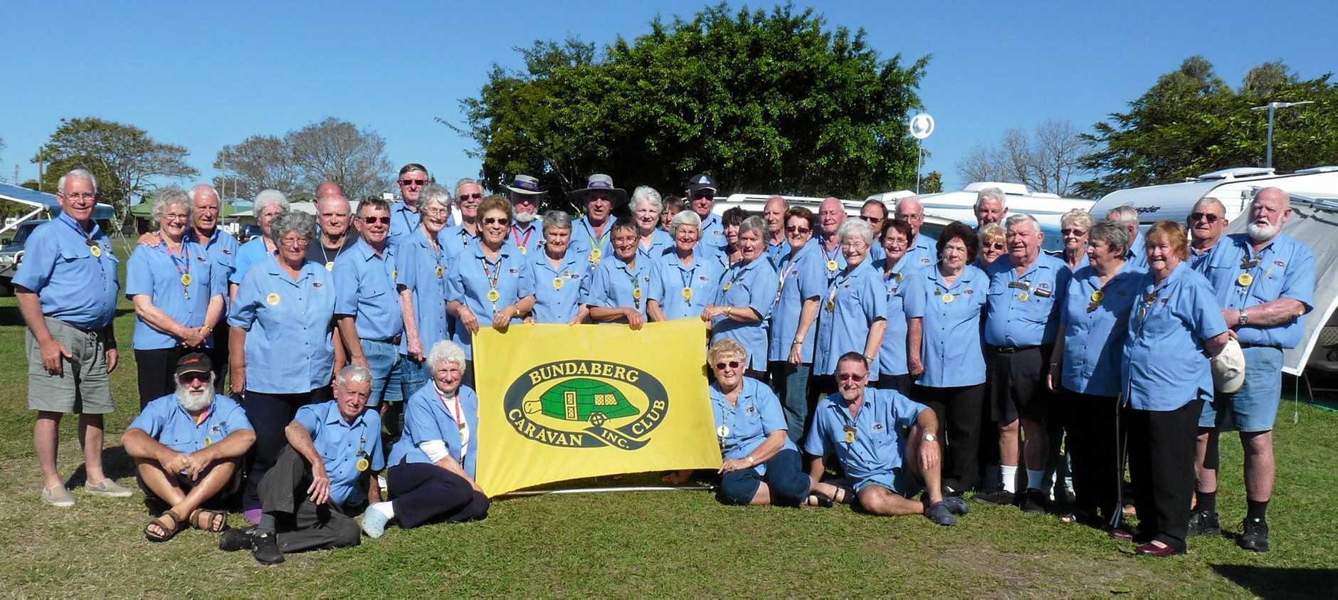 BIRTHDAY BASH: Members of the Bundaberg Caravan Club celebrate their 20th birthday.