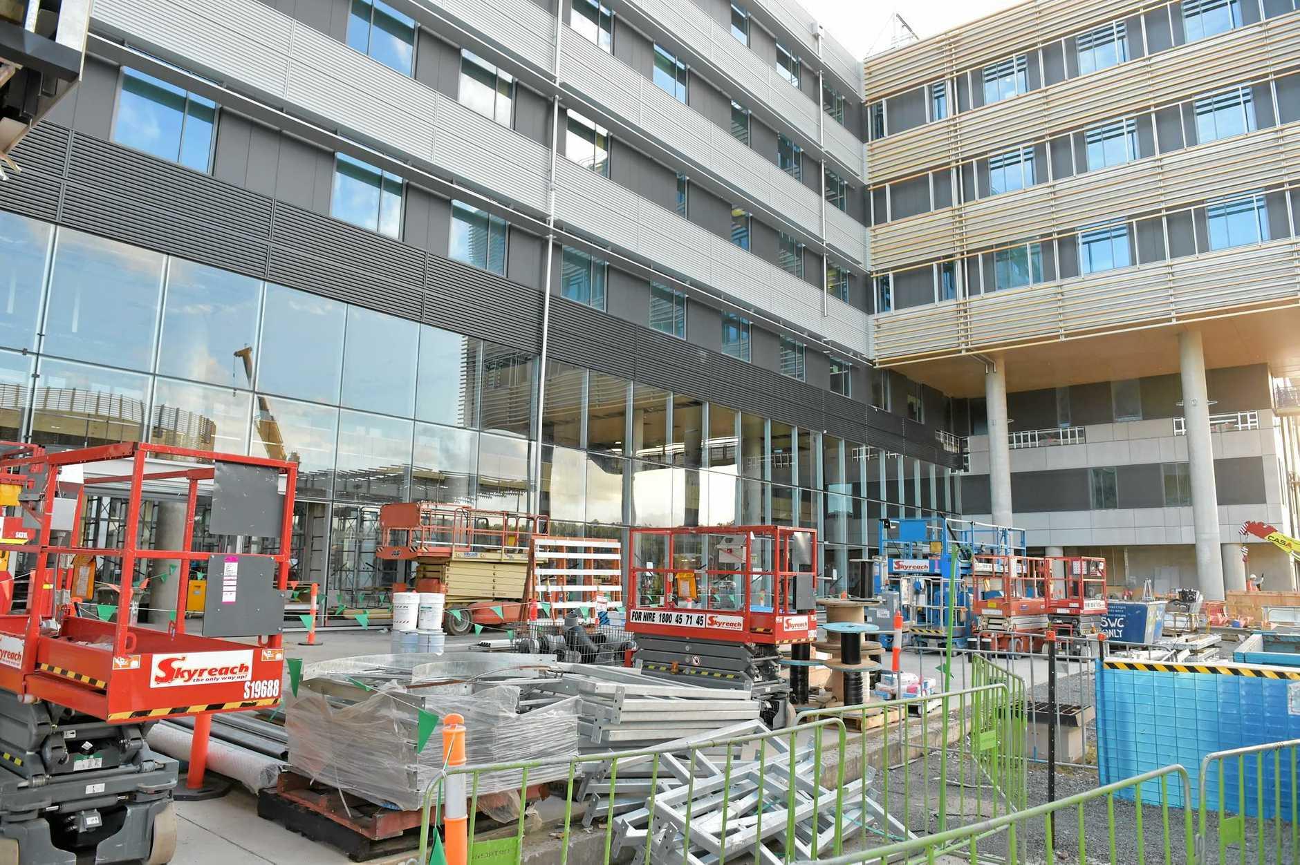 Sunshine Coast University Public Hospital under construction. Photo: Warren Lynam / Sunshine Coast Daily