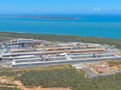 Boyne Smelters Ltd, the aluminium smelter on Boyne Island, as seen from an aerial taken December 2014. Photo Mike Richards / The Observer