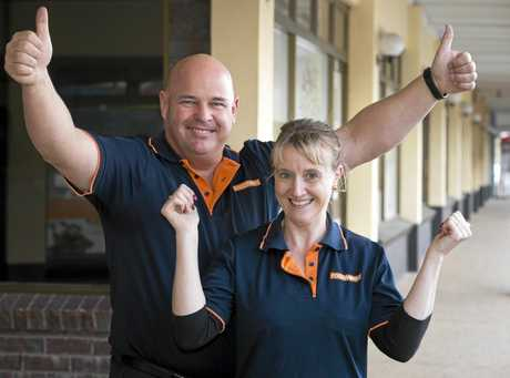 HAPPY TOWN: FoodWorks owners David and Laura Zampech are proud to operate their business in Withcott, named as Queensland's friendliest town for 2016.