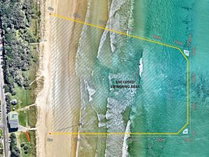 Lennox Head shark barrier will be 'swim ready' this week